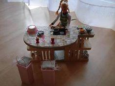 Die Bastel-Elfe, alles rund ums Basteln - Küche für die Barbie Puppen