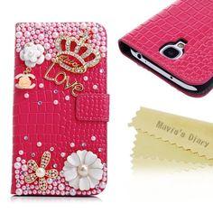 Mavis's Diary Bling Crystal Crown Rhinestone Flower Pearl Diamond Design Sparkle Glitter Red Leather Wallet Type Magnet Flip Case Cover (Samsung Galaxy S4 9500 9505 M919 SGH-i337 Galaxy S IV SHV-E300S SHV-E300K SHV-E300L Samsung Galaxy S4 LTE SHV-E330S SHV-E330K SHV-E330L Samsung Galaxy S4 Verizon SCH-i545 Galaxy S IV Black Mist Developer Edition), http://www.amazon.com/dp/B00G8TCZA0/ref=cm_sw_r_pi_awdm_LxY2sb1ADTYNV