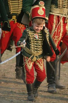 Young hungarian light-horseman Traditional hungarian uniform from the middle of…