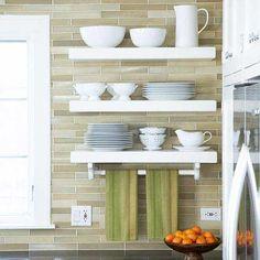 I love floating shelves...and I love that backsplash...oh my