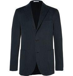 Boglioli - Blue Slim-Fit Brushed Stretch-Cotton Twill Suit Jacket