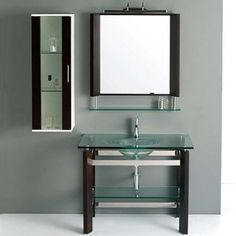 Genial JJT Trading Vg136 Tempered Glass Bath Vanity. Http://www.listvanities.