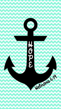 Cute chevron anchor wallpaper