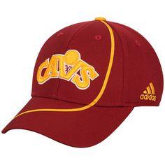 Cleveland Cavaliers adidas Jersey Hook Structured Flex Hat - Wine