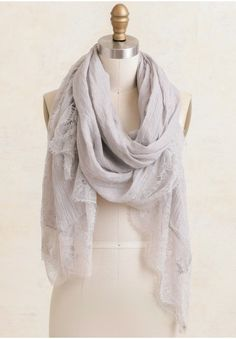 Feel The Breeze Lace Detail Scarf