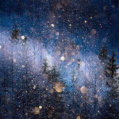 """""""Diamond dust"""" cloaks an ordinary landscape in glittering magic by Masayasu Sakuma."""
