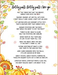 Funny Thanksgiving Poems to Whet Your Appetite Funny Thanksgiving Poems – Add some silly poetry to your Thanksgiving table this year. Your grandkids will smile at these turkeys' antics, and the poetry will help their reading skills, too. Funny Thanksgiving Poems, Thanksgiving Bible Verses, Thanksgiving Turkey Dinner, Happy Thanksgiving Images, Thanksgiving Parties, Thanksgiving Crafts, Thanksgiving Prayers, Thanksgiving Writing, Teacher Poems