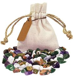 Gratitiude Power Pouch Healing Crystals Set with XS Tumbled Stones Polished Natural Mineral Gemstones (Gratitude)