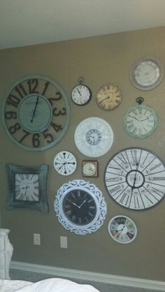 Cassie's clock wall.