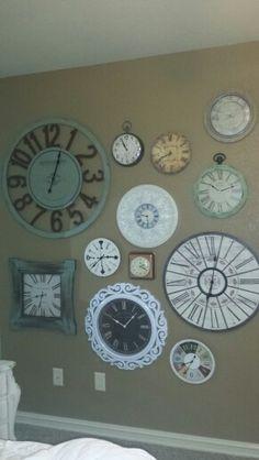 Cassie's clock wall.