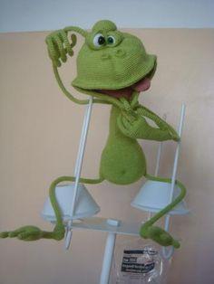 Кокетка Люсинда.. загрузил в Вязаные создания: Люся-Люсинда кокетливая зелень. Автор МК Светлана Перцева.