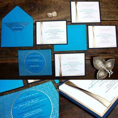 Inauguration Invitation with golden ribbon and a color tracing printed beautifully.