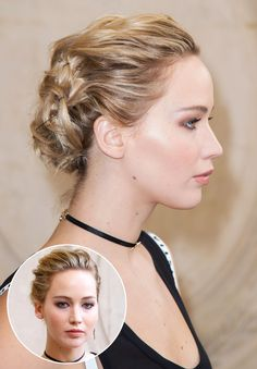Jennifer Lawrence - click ahead for 13 Super-Chic Updo Ideas for Short Hair