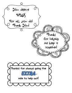 Thank You Cards for Volunteers Freebie (Editable