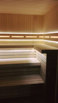 Sauna Lights, Sauna Design, Saunas, Kindergarten, Spa, Stairs, Bathroom, Lighting, House