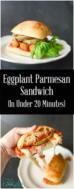 Eggplant Parmesan Sandwich for Dinner in Under 20 Minutes | Tikkido ...