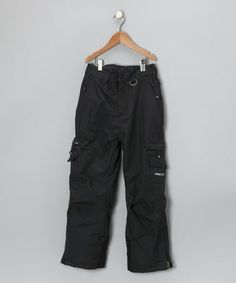 Take a look at this Black Premium Cargo Snow Pants - Boys by ARCTIX on #zulily today!