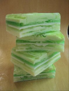 Ginger Lime Layered Soap by OakStreetSoap on Etsy, $4.25