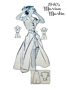 40s Marian Martin 9366 Pattern Misses Play by VintageNeedleFinds, $25.00