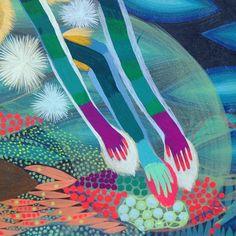 Extra long color block arms | Betsy Walton