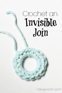 How to crochet invisible joins at www.1dogwoof.com