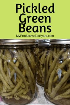This is a simple recipe to make Pickled Green Beans or almost any pickled vegetable! Green beans, cucumbers, peppers or many others! Pickled Vegetables Recipe, Canning Vegetables, Pickled Asparagus, Veggies, Pickeled Green Beans, Appetizer Recipes, Appetizers, Dinner Recipes, Canning Peaches