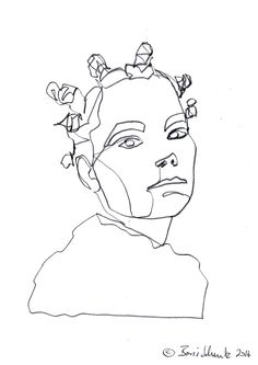 """Björk″, continuous line drawing by Boris Schmitz"
