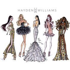 Red Carpet Glam by Hayden Williams. Which look is your fave?