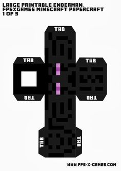 Large Minecraft Enderman - Printable Cut Out Character 1 of 3