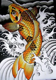 Best Golden Koi Fish Tattoo Design Beautiful