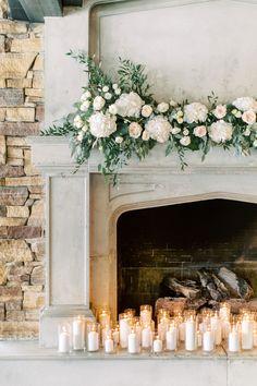 Wedding Fireplace Decorations, Wedding Mantle, Home Wedding, Wedding Ceremony, Wedding Ideas, Church Wedding, Garden Wedding, Wedding Details, Dream Wedding
