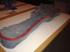 Housse de guitare en jeans recyclés