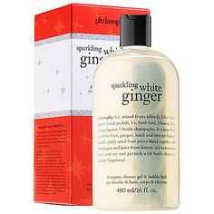 Sparkling White Ginger Shampoo, Shower Gel & Bubble Bath - philosophy | Sephora $21.00