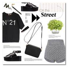 """On the street."" by vigilexi ❤ liked on Polyvore featuring Blumarine, N°21, Alexander Wang, Mulberry, Whiteley, Smashbox and Bobbi Brown Cosmetics"