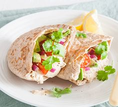Spruce up houmous with coriander, red onion, tomatoes and lemon and stuff into pitta or serve piled on wholegrain or rye bread