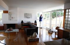 Side by side Rudolf Schindler houses are renovated in LA by architect Steven Ehrlich.