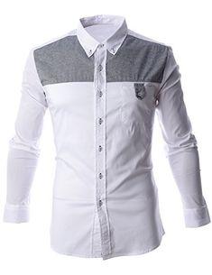 FLATSEVEN Mens Color Block Contrast Button Down Dress Shirt (SH1012) White, XL FLATSEVEN http://www.amazon.com/dp/B00N4P3PWI/ref=cm_sw_r_pi_dp_MWcFub1NXSQRY