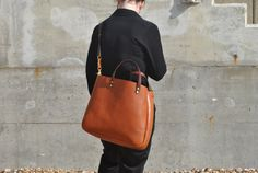 Italian Leather Tote with zipper, Cross body Leather Tote, Leather Tote Bag…