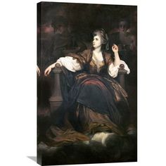 Global Gallery 'Mrs. Siddons as the Tragic Muse' by Joshua Reynolds Painting Print on Wrapped Canvas