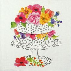 4 Single Table Party Paper Napkins for Decoupage Decopatch Craft Celebration