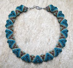 Items similar to Woven sead bead aqua necklace. on Etsy Seed Bead Necklace, Seed Bead Jewelry, Beaded Jewelry, Handmade Jewelry, Beaded Necklace, Beaded Bracelets, Necklaces, Jewellery, Bracelet Crochet