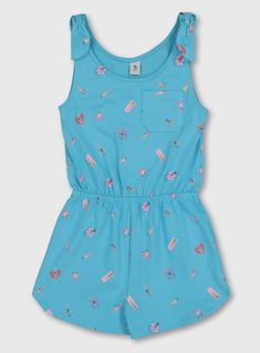 Buy Blue Sunbathing Girl Print Jersey Playsuit - 6 years at Argos. Thousands of products for same day delivery or fast store collection. Girls Playsuit, Playsuits, Jumpsuits, Brand Sale, Tailored Suits, Mens Sale, Sun Hats, 6 Years, Overalls