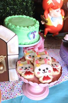 Rabbit cookies at a Alice in Wonderland birthday party! See more party planning ideas at CatchMyParty.com!