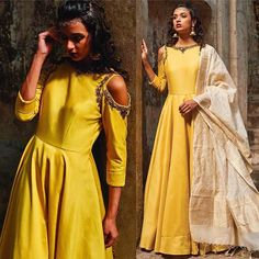 Yellow Art Silk Anarkali Churidar Suit With Dupatta Online. Please msg or whatsapp at 0169179180 for order details.  #andaazfashion #trends #people #queen #design #chic #weddingdress #wedding #fashionblogger #fashion #anarkali #like4like #likeforlike #followforfollow #follow4follow #followme #pinterest