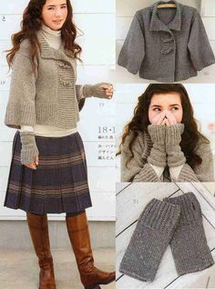 Simple Cardigan with wristlets