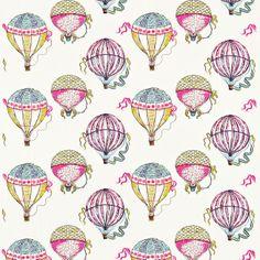Beautiful Balloons wallpaper by Sanderson for Lyons Lyons Nicholson Jones Antique Interior, Fabric Wallpaper, Pattern Wallpaper, Air Balloon, Balloons, Harlequin Fabrics, Decoupage, Balloon Illustration, Pattern Illustration