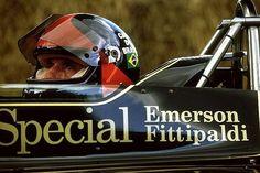 Emerson Fittipaldi in his iconic #Lotus. #Legend #Formula1 #F1 - @emmofittipaldi (Source: Twitter)