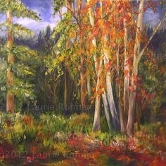 Landscape Oil Painting Scenic Vermont Vibrant by BetweenTheWeeds