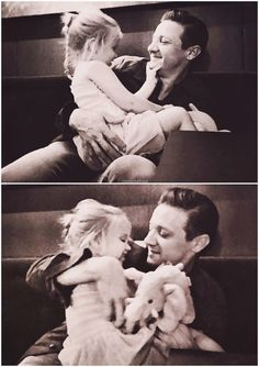 Jeremy Renner with his daughter Ava Berlin