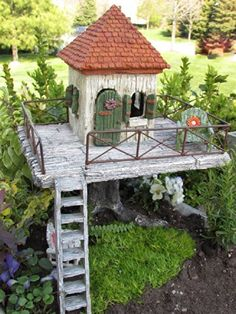 "Mini Miniature Fairy Garden ""Fairy Resort"" House Wholesale Fairy Gardens http://www.amazon.com/dp/B00KN2YKL0/ref=cm_sw_r_pi_dp_P-Ujub1FQ1ZV0"